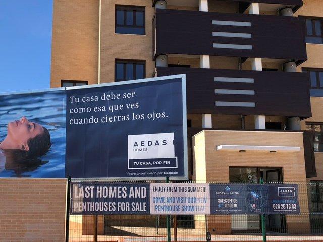 Promoción de viviendas de Aedas Homes
