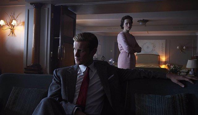 Matt Smith y Claire Foy en The Crown