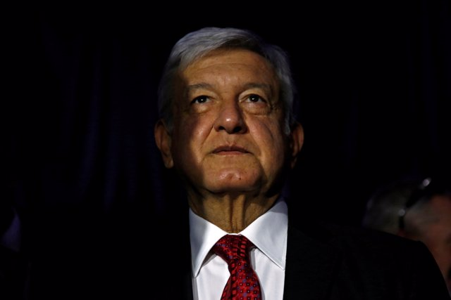 FILE PHOTO: Andres Manuel Lopez Obrador, presidential candidate of the National