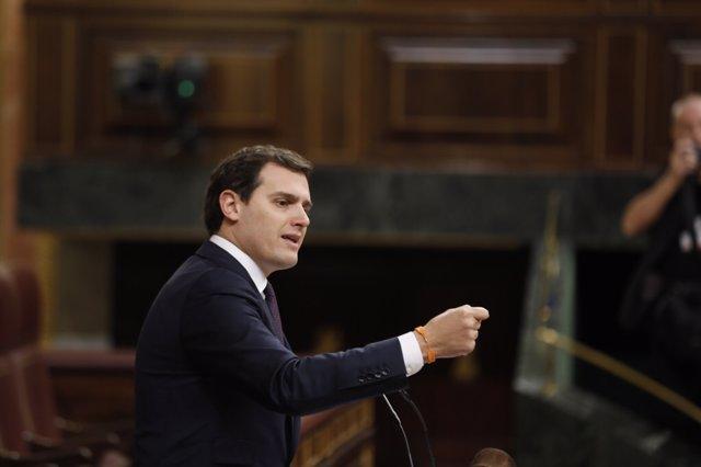 Albert Rivera interviene en el pleno del Congreso sobre las pensiones