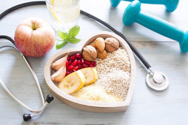 Dieta sana, corazón, ejercicio