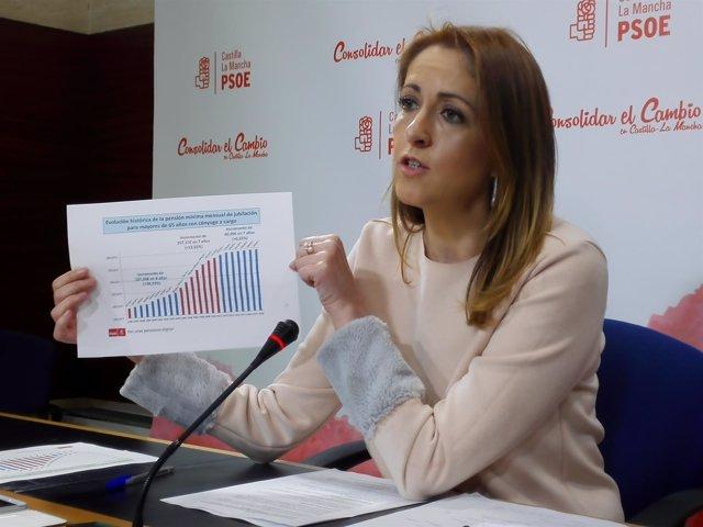 La portavoz del PSOE en C-LM, Cristina Maestre