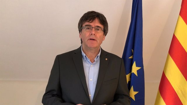 Carles Puigdemont en un vídeo difundido en un acto en Reus