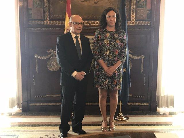 Cristóbal Montoro y Catalina Cladera. Foto de archivo.