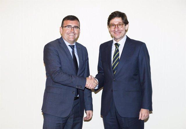 Los presidentes de CajaGranada Fundación y de Bankia