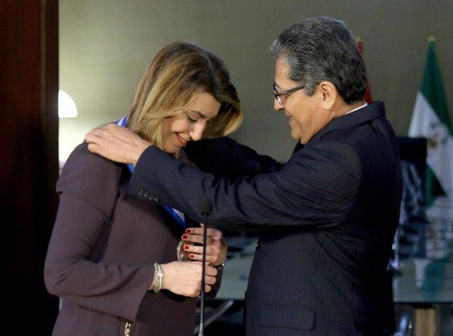 Concesión del Premio a la Solidaridad de El Salvador a Susana Díaz