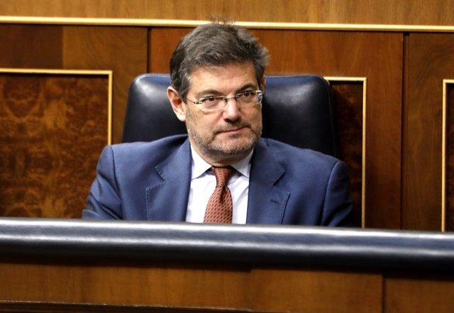 El nuevo ministro de Justicia, Rafael Catalá, en el pleno del Congreso
