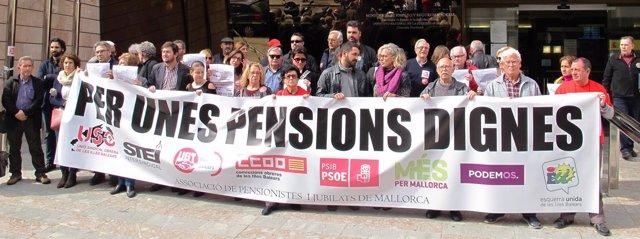 Sindicatos reclaman unas pensiones dignas
