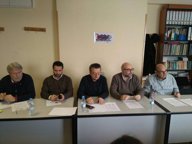 Representantes de ANPE, FECCOO-Exterior, CSIF-Exterior, FeSP-UGT y STEs-i