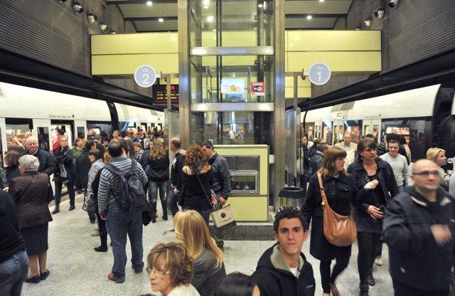 El metro en los días de Fallas