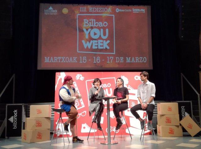 """Presentación de la tercera edición de """"Bilbao You Week"""""""