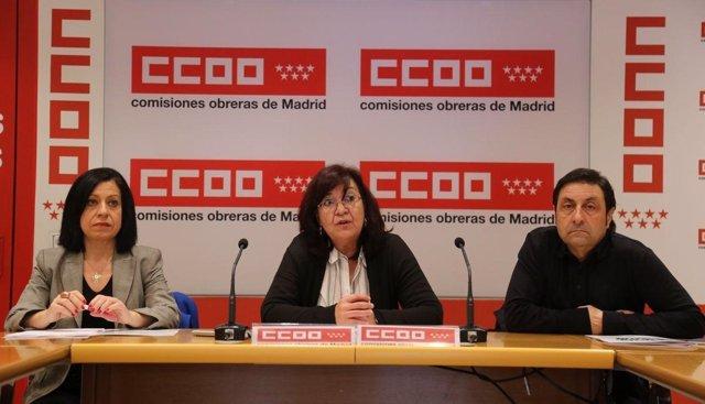 Rueda de prensa de CCOO sobre la situación de investigadores de biomedicina
