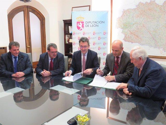 Firma Del Acuerdo Diputación De León E Itacyl 14-3-2018