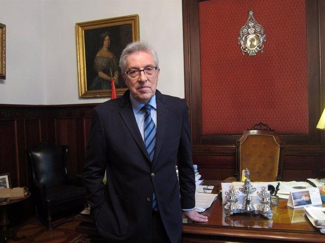 El presidente del TSXG, Miguel Ángel Cadenas, en una entrevista