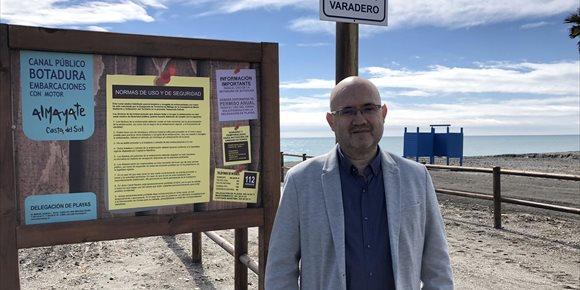 4. La playa de Almayate, en Vélez-Málaga, cuenta ya con una zona de botadura pública y gratuita pionera en Andalucía