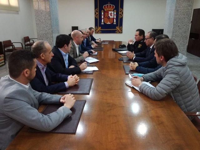 Reunión en Melilla con sindicatos policiales