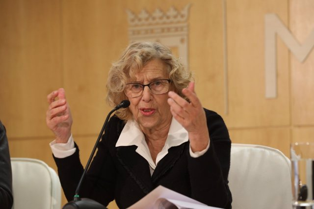 Manuela Carmena en rueda de prensa