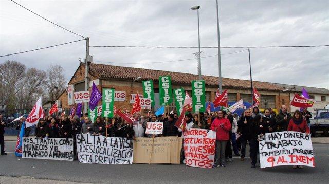 Concentración trabajadores Lispar de Logroño