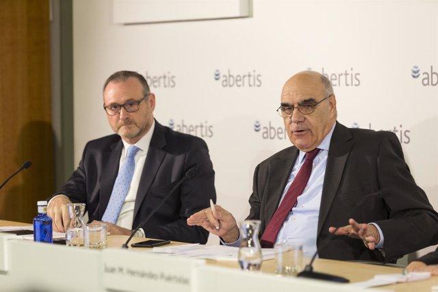 El presidente de Abertis, Salvador Alemany, y su primer ejecutivo, José Aljaro
