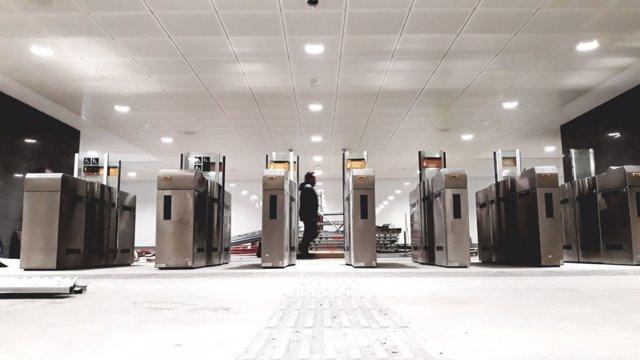 La nueva estación de Sabadell Centre en la puesta a punto para su reapertura