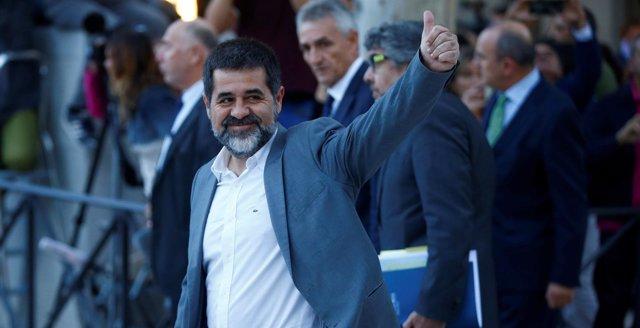 Jordi Sanchez llega a la Audiencia Nacional para declarar por el procés