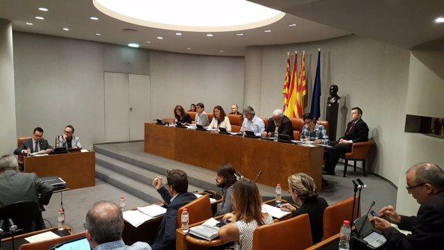 Foto de archivo del pleno de la Diputación de Barcelona
