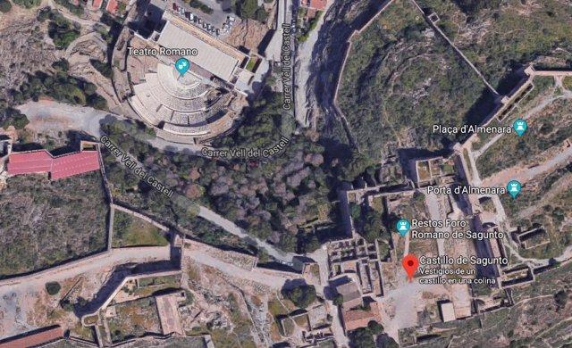 Entorno del castillo de Sagunt junto al Teatro Romano