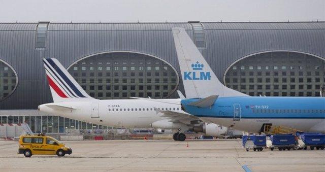 Aviones de Air France y KLM