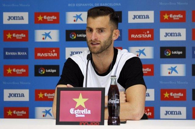 El delantero brasileño del RCD Espanyol Leo Baptistao