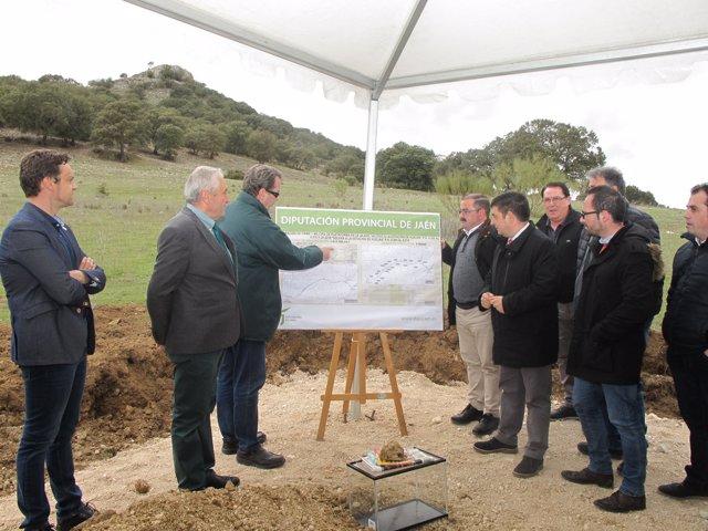 Diputación de Jaén inicia obras de la carretera de acceso a Estación de Huelma
