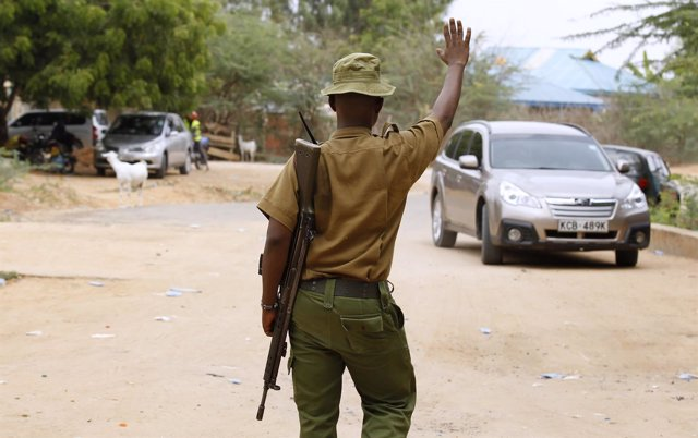 Policía keniano