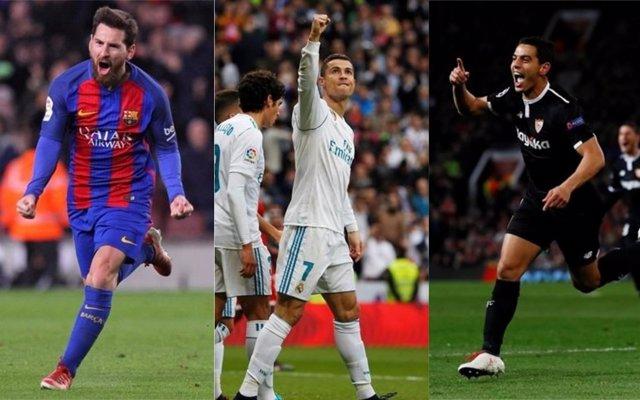 Messi, Cristiano y Ben Yedder