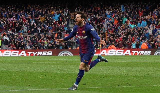 Messi da al Barça media Liga ante el Atlético