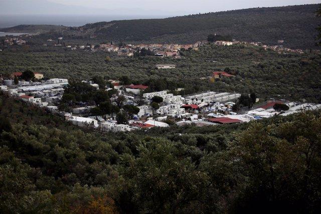 Vista general del campo de Moria