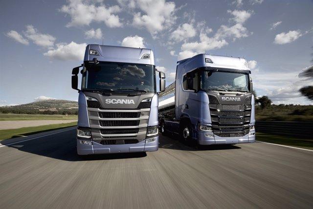 Foto de archivo de camiones
