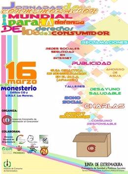 Cartel de los actos dle Día del Consumidor