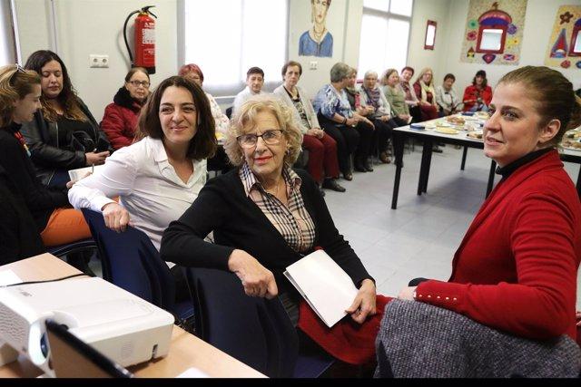 Celia Mayer, Manuela Carmena y Esther Gómez