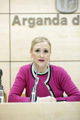 Cifuentes Preside La Reunión Del Consejo De Gobierno En Arganda. La Presidenta D