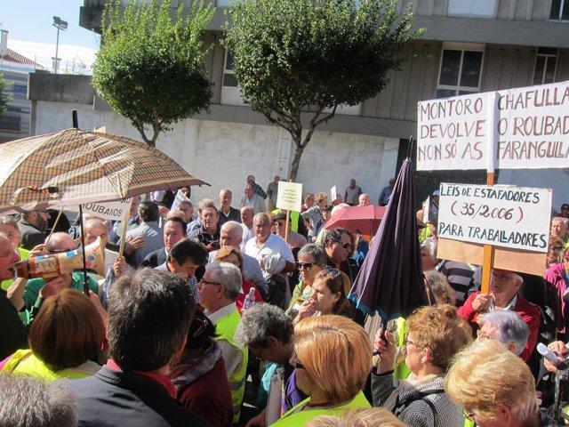 Protesta de emigrantes retornados
