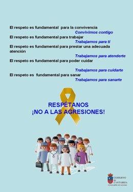 Cartel contra agresiones sanitarias