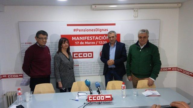 Sindicalistas presentan movilizaciones por las pensiones