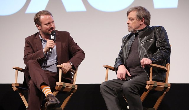 Rian Johnson y Mark Hamill