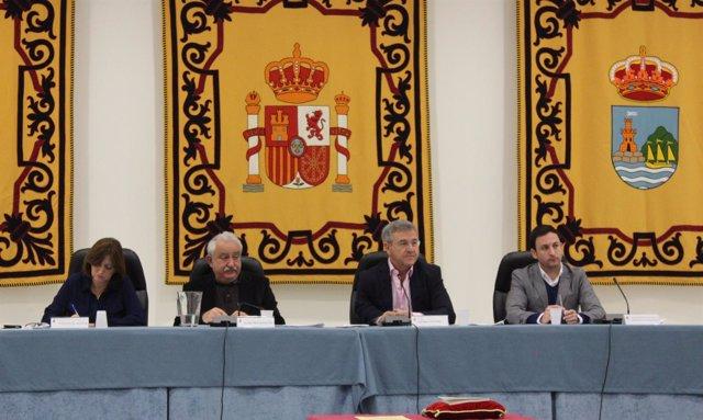 Pleno del Ayuntamiento de Estepona José María García Urbano, alcalde PP
