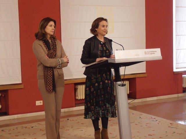 Gamarra y San Martín, en la rueda de prensa