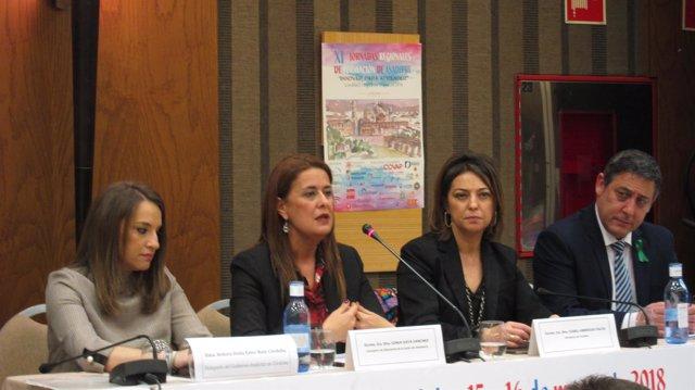 Sonia Gaya con Isabel Ambrosio, Esther Ruiz y Antonio Francisco Fernández
