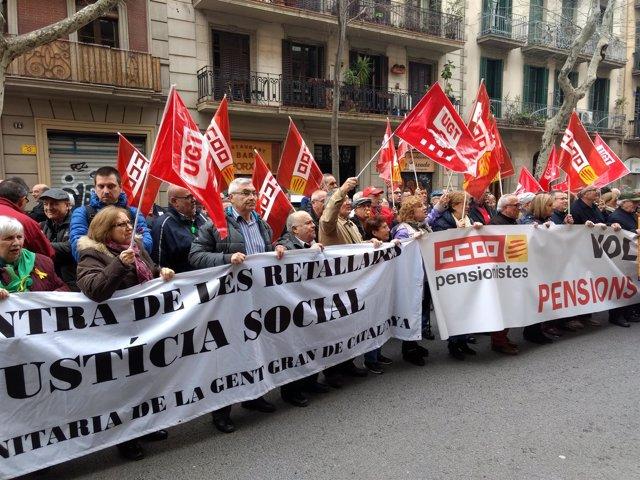Concentración en Barcelona para reclamar pensiones dignas