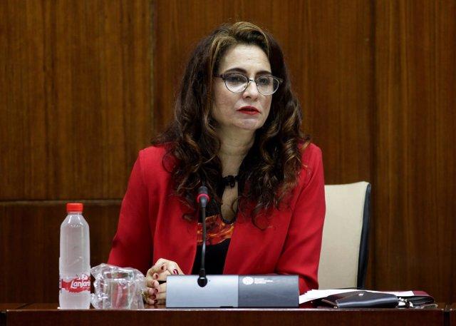 La consejera de Hacienda y Administración Publica, Maria Jesús Montero