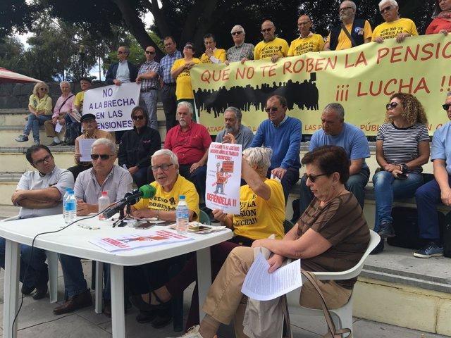 Rueda de prensa de la Plataforma por la Defensa de las Pensiones Públicas
