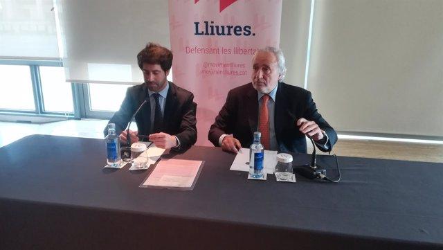Los dirigentes de Lliures Antoni Fernández Teixidó y Roger Montañola