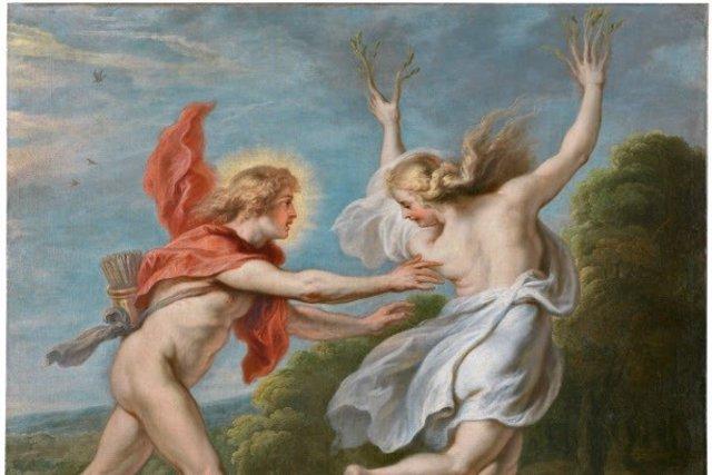 Detalle de Apolo persiguiendo a Dafne de Theodoor van Thulden